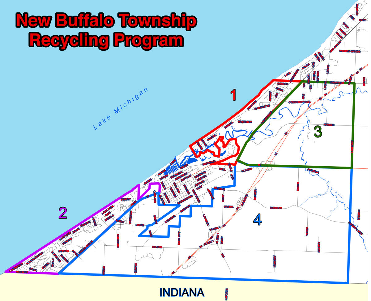 New Buffalo Michigan Map.Changes To Township Recycling Effective New Buffalo Township